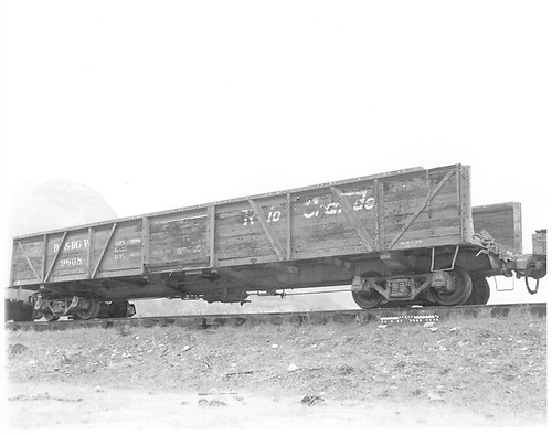 D&amp;RGW pipe car #9608.<br /> D&amp;RGW  Rockwood, CO  Taken by Payne, Andy M. - 10/24/1971