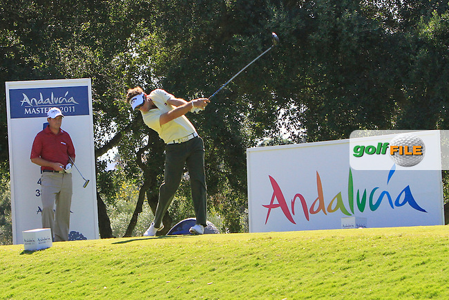 Nick Dougherty (ENG) during the 2nd day at the  Andalucía Masters at Club de Golf Valderrama, Sotogrande, Spain. .Picture Denise Cleary www.golffile.ie