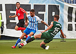 Tete Morente (Malaga CF) seen in action during La Liga Smartbank match round 39 between Malaga CF and RC Deportivo de la Coruna at La Rosaleda Stadium in Malaga, Spain, as the season resumed following a three-month absence due to the novel coronavirus COVID-19 pandemic. Jul 03, 2020. (ALTERPHOTOS/Manu R.B.)