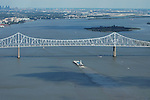 Aerial Photograph of the Commodore Barry Bridge & Delaware River