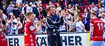 Freude beim Team des Bergischen HC beim Spiel in der Handball Bundesliga, TVB 1898 Stuttgart - Bergischer HC.<br /> <br /> Foto © PIX-Sportfotos *** Foto ist honorarpflichtig! *** Auf Anfrage in hoeherer Qualitaet/Aufloesung. Belegexemplar erbeten. Veroeffentlichung ausschliesslich fuer journalistisch-publizistische Zwecke. For editorial use only.