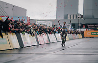 CX World Champion Mathieu Van Der Poel (NED/Correndon-Circus) wins his 30th (!!) race of the season<br /> <br /> Superprestige cyclocross Hoogstraten 2019 (BEL)<br /> Elite Men's Race<br /> <br /> &copy;kramon
