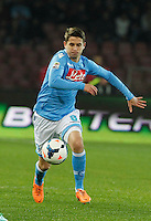 Jorginho   in action during the Italian Serie A soccer match between SSC Napoli and AC Fiorentina   at San Paolo stadium in Naples, March 22 , 2014