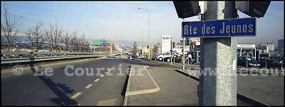 Suisse, Genève, le 04.02.2004.Rte des Jeunes. Zone industriel de Lancy..© J.-P. Di Silvestro / Le Courrier.