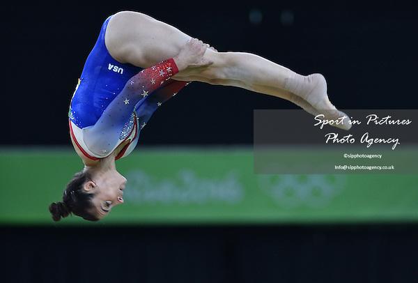 Alexandra Raisman (USA). Womens individual floor exercise. Artistic Gymnastics. Rio Olympic arena. Olympic Park. Rio de Janeiro. Brazil. 16/08/2016. ~ MANDATORY CREDIT Garry Bowden/SIPPA - NO UNAUTHORISED USE - +44 7837 394578