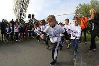 Kinder des Jahrgangs 2009/10 gehen auf die Strecke, Nicolas Blepohl-Alvant (#39) allen voraus