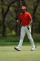 Tony Finau (USA) on the 9th green during the 3rd round at the PGA Championship 2019, Beth Page Black, New York, USA. 18/05/2019.<br /> Picture Fran Caffrey / Golffile.ie<br /> <br /> All photo usage must carry mandatory copyright credit (© Golffile | Fran Caffrey)