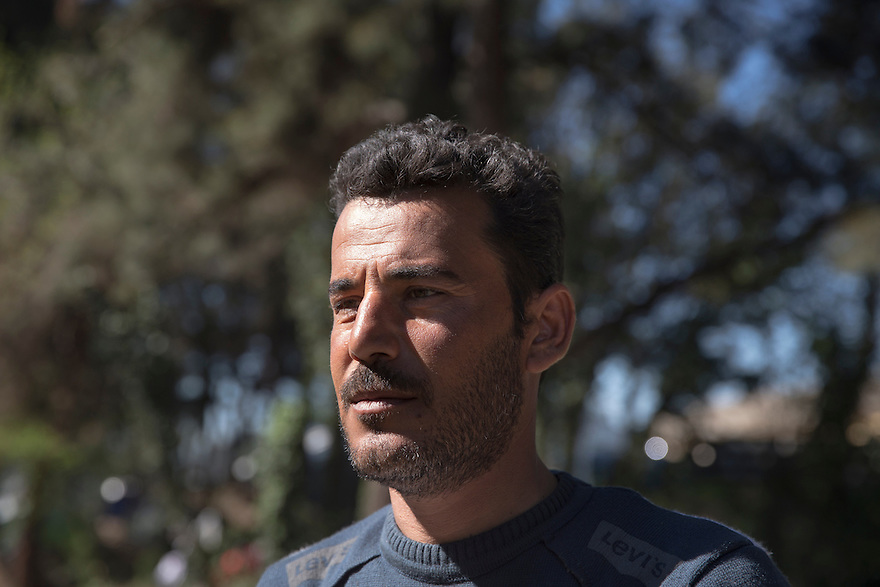 Yassir Bashar, 35, is a Yazidi from Shengal, Iraq. When ISIS swept through his village, they captured his wife Khaida and killed one of his two sons, along with two of Yassir's brothers. After a year in captivity, his younger son,  Sezar, 5, was released and brought to Germany with his sister and her husband. Yassir arrived in Greece last month to find the border closed. He has heard only once from his wife, who is imprisoned in Raqqa, Syria. She wrote him a letter that was carried to him by a hostage released by ISIS. Yassir recently moved from Idomeni camp to Petra, a camp exclusively for Yazidis, who say they were fearful living among so many Muslims. He is trying desperately to reunite with his son and sister in Germany.