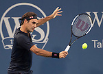 August  14, 2018:  Roger Federer (SUI) defeated Peter Gojowczyk 6-4, 6-4,  at the Western & Southern Open being played at Lindner Family Tennis Center in Mason, Ohio. ©Leslie Billman/Tennisclix/CSM