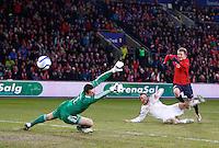 Oslo, 20110326. Landskamp Norge-Danmark, EM Kval. Ullevål stadion. Erik Huseklepp scorer, 1-1. Foto: Eirik Helland Urke / Dagbladet