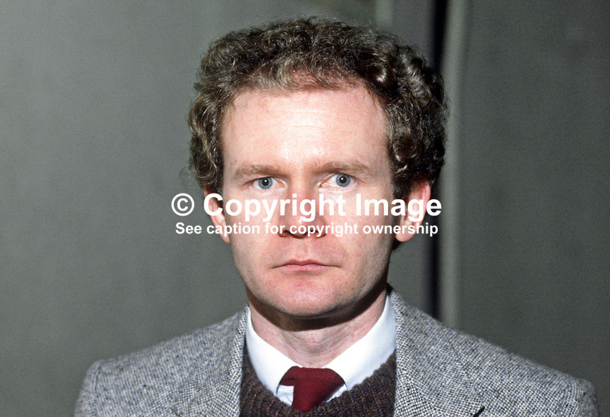 Martin McGuinness, Londonderry, Derry, prominent member, Provisional Sinn Fein, 19840130MMG1.<br />