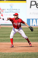 May 29th 2008:  Luke Appert of the Reading Phillies, Class-AA affiliate of the Philadelphia Phillies, during a game at Jerry Uht Park in Erie, PA.  Photo by:  Mike Janes/Four Seam Images