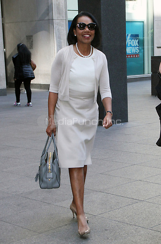 NEW YORK, NY - MAY 1: Condoleezza Rice seen after an appearance on Fox & Friends promoting the PBS documentary American Creed May 1, 2018 in New York City. Credit: RW/MediaPunch