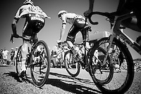 Tom Dumoulin (NLD/Giant-Alpecin) &amp; Simon Geschke (DEU/Giant-Alpecin) up the Lacets du Grand Colombier (Cat1/891m/8.4km/7.6%)<br /> <br /> stage 15: Bourg-en-Bresse to Culoz (160km)<br /> 103rd Tour de France 2016