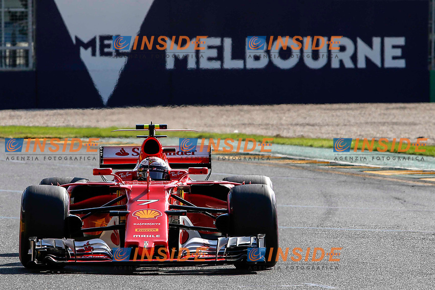 Kimi Raikkonen (FIN) Ferrari SF70-H at Formula One World Championship, Rd1, Australian Grand Prix, Race, Albert Park, Melbourne, Australia, Sunday 26 March 2017.<br /> Foto Sutton/Panoramic/Insidefoto