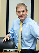 "United States Representative Jim Jordan (Republican of Ohio) arrives to hear testimony from FBI Deputy Assistant Director Peter Strzok who will appear during a joint hearing of the US House Committee on the Judiciary and the US House Committee on Oversight and Government Reform on ""Oversight of FBI and DOJ Actions Surrounding the 2016 Election"" on Capitol Hill in Washington, DC on Thursday, July 12, 2018. <br /> Credit: Ron Sachs / CNP<br /> (RESTRICTION: NO New York or New Jersey Newspapers or newspapers within a 75 mile radius of New York City)"
