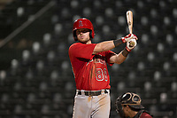 AZL Angels third baseman Justin Jones (88) during an Arizona League game against the AZL Diamondbacks at Tempe Diablo Stadium on June 27, 2018 in Tempe, Arizona. The AZL Angels defeated the AZL Diamondbacks 5-3. (Zachary Lucy/Four Seam Images)