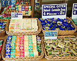 Range of local soaps for sale, Rhodes, Greece