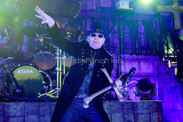 CLARKSTON, MI - JULY 11: King Diamond performs during the Rockstar Energy Drink Mayhem Festival at DTE Energy Music Theatre on July 11, 2015 in Clarkston, Michigan. Photo Credit: Chris Schwegler / Retna Ltd. /MediaPunch