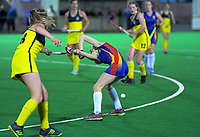 Action from the Wellington Secondary Schools Premier 1 Girls Grade hockey 3rd place playoff match between Wairarapa College and Tawa College at National Hockey Stadium in Wellington , New Zealand on Friday, 23 August 2019. Photo: Dave Lintott / lintottphoto.co.nz