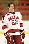 David Valek (Harvard - 22) - The visiting Quinnipiac University Bobcats defeated the Harvard University Crimson 3-1 on Wednesday, December 8, 2010, at Bright Hockey Center in Cambridge, Massachusetts.