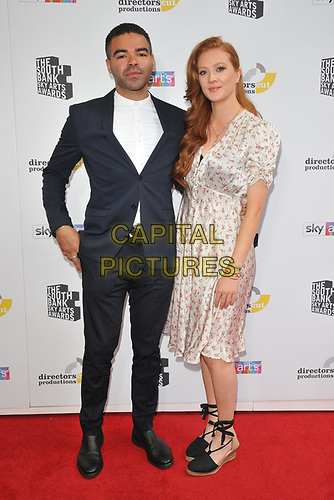 Ash Hunter and Sophie Martin at the South Bank Sky Arts Awards 2019, The Savoy Hotel, The Strand, London, England, UK, on Sunday 07th July 2019.<br /> CAP/CAN<br /> ©CAN/Capital Pictures