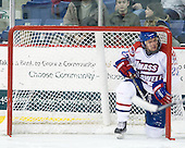 Shayne Thompson (Lowell - 23) - The visiting Northeastern University Huskies defeated the University of Massachusetts-Lowell River Hawks 3-2 with 14 seconds remaining in overtime on Friday, February 11, 2011, at Tsongas Arena in Lowelll, Massachusetts.