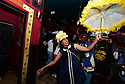 Members of the Baby Doll Sisterhood second line in memory of Baby Doll Tee Eva Perry, who died at 83 on June 7, in New Orleans, La. Monday, June 11, 2018. Dianne Honore