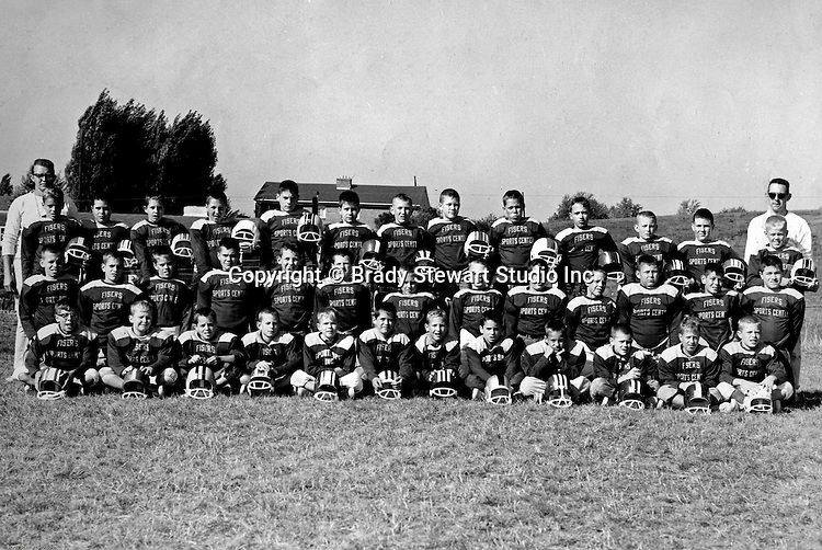 Bethel Park PA:  Bethel Recreation Football League Fisher's Sport Center Team. Team members include; Don Troup, Mike Stewart,