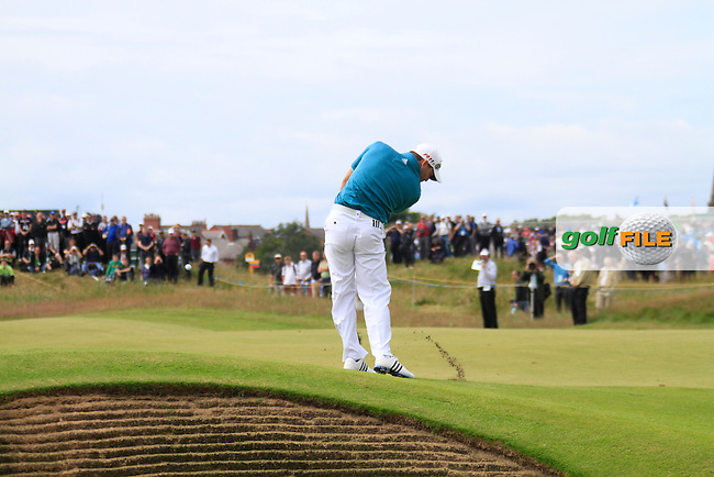 Sergio Garcia (ESP) plays his 2nd shot on the 15th hole during Thursday's Round 1 of the 141st Open Championship at Royal Lytham & St.Annes, England 19th July 2012 (Photo Eoin Clarke/www.golffile.ie)