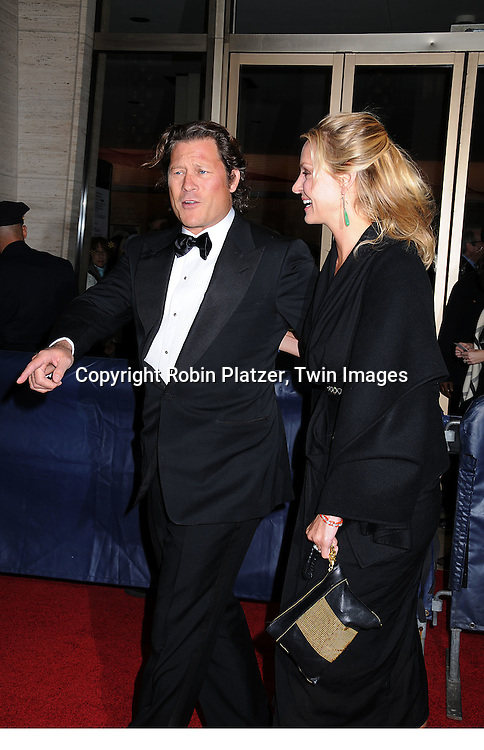 Uma Thurman and boyfriend Arpad Busson .arriving at The Film Society of Lincoln Center 35th Gala Tribute to Meryl Streep on April 14, 2008 at Avery Fisher Hall. ..Robin Platzer, Twin Images
