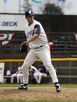 April 21, 2004:  Dirk Hayhurst of the Fort Wayne Wizards, Midwest League (Low-A) affiliate of the San Diego Padres, during a game at Memorial Stadium in Fort Wayne, IN.  Photo by:  Mike Janes/Four Seam Images