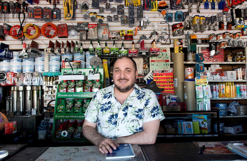 Cesar Rivas Beltran. Hardware store owners in Culiacan, Sinaloa,  Mexico