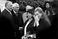 03/07/2007.Micheal Smith Jim McDaid & .Minister for Health & children Mary Harney TD at the removal maas of her mother Sarah Harney at St. Finian's Church in Newcastle, Co. Dublin..Photo: Gareth Chaney Collins