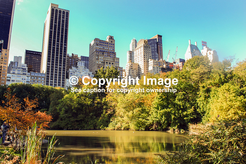 The rural atmosphere of Central Park, New York, USA, contrasts with the skyscrapers of Manhatten and its attendant bustle. 201110225405 ..Copyright Image from Victor Patterson, 54 Dorchester Park, Belfast, United Kingdom, UK...For my Terms and Conditions of Use go to http://www.victorpatterson.com/Victor_Patterson/Terms_%26_Conditions.html