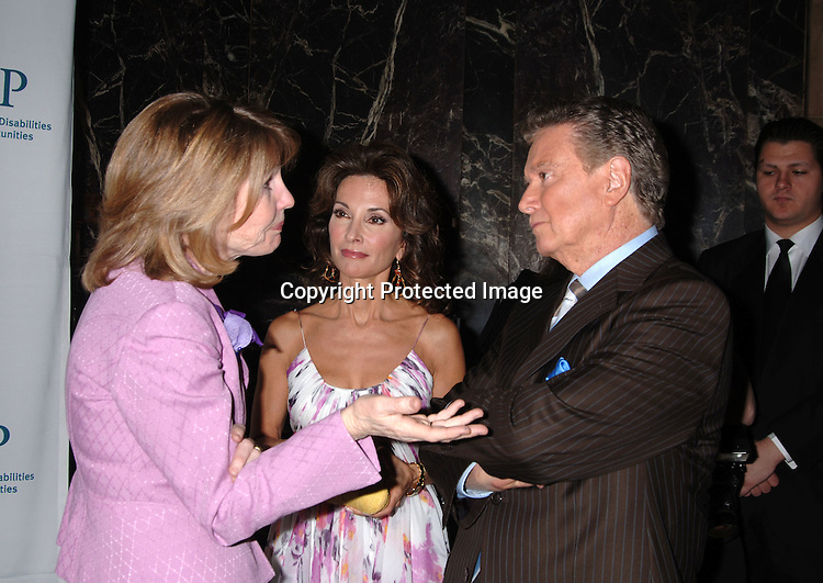Donna Hanover and Susan Lucci and Regis Philbin...at The 5th Annual Women Who Care Luncheon benefitting ..United Cerebral Palsy of New York City on May 4, 2006 ..at Cipriani 42nd Street...Robin Platzer, Twin Images