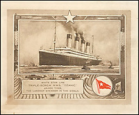 One way ticket - Brochure for the Titanic.
