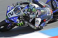 Graves Yamaha rider Josh Herrin riding in the 2013 AMA Superbike race at Mazda Raceway Laguna Seca in Monterey, California.