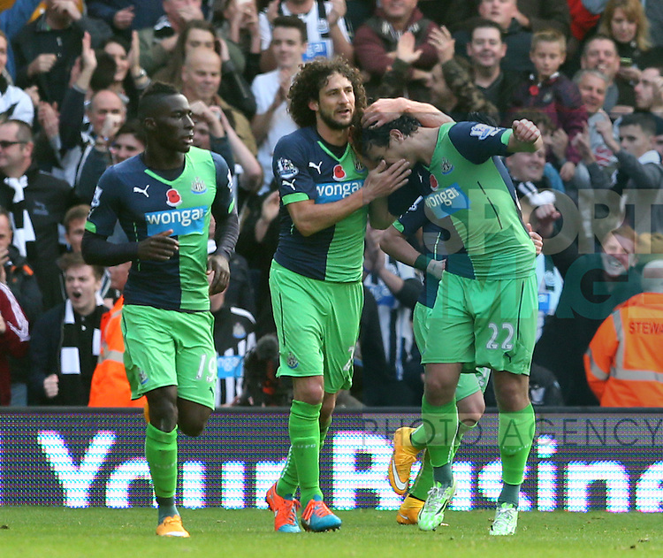 Fabrizo Coloccini of Newcastle United |(c) celebrates scoring the second goal  - Barclays Premier League - WBA vs Newcastle Utd - Hawthorns Stadium - West Bromwich - England - 9th November 2014  - Picture Simon Bellis/Sportimage