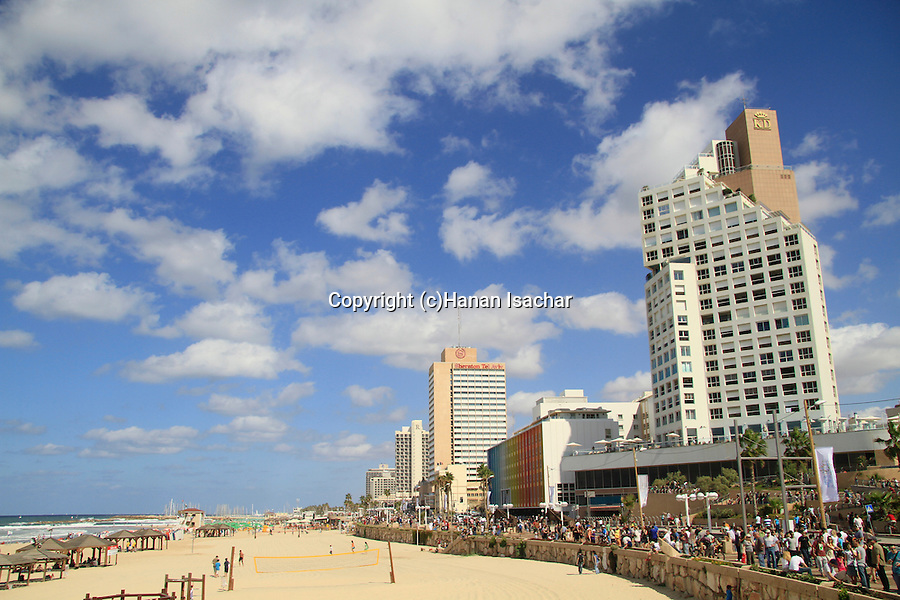 Israel, hotels by the beach of Tel Aviv