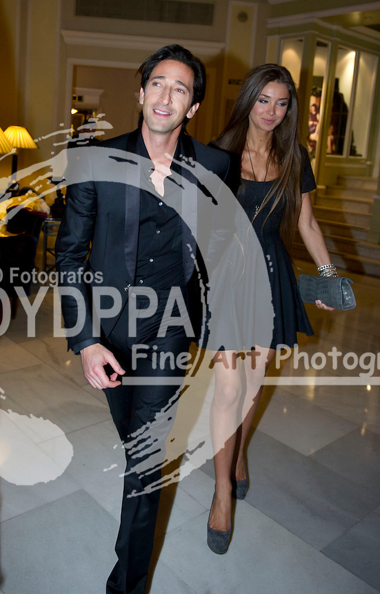 19/11/2012. Palace Hotel. Madrid. Spain. GQ Men Of The Year Award 2012. Adrien Brody and Lara Nieto. (C) Belen Diaz / DyD Fotografos