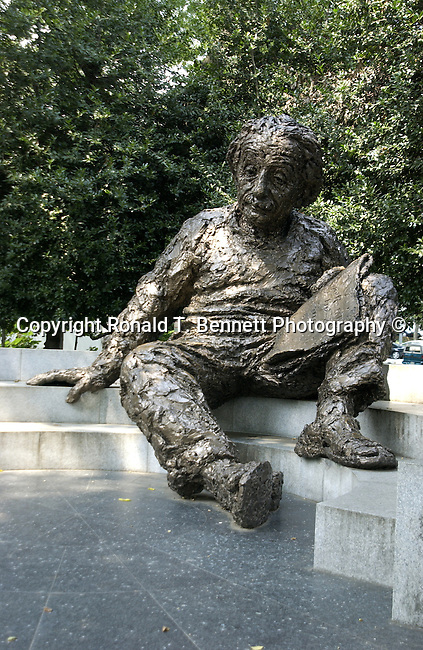 Albert Einstein theoretical physicist, physics, special and general theories relativistic cosmology deflection of light by gravity, gravitational lensing, first fluctuation dissipation theorem Brownian movement of molecules photon theory wave particle duality quantum theory of atomic motion in solids zero point energy concept, Washington, D.C. Fine art photography by Ron Bennett © Copyright, Fine Art Photography by Ron Bennett, Fine Art, Fine Art photo, Art Photography,