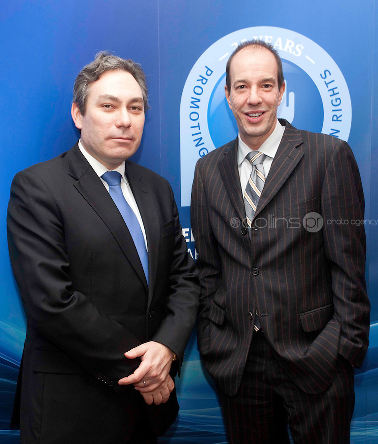"""*** NO FEE PIC***.16/12/2011.(L to R).Anthony RomeroExecutive Director American Civil Liberties Union (ACLU),.Mark Kelly Director Irish Council for Civil Liberties (ICCL),.during the """"The Future of Human Rights Global Techniques Securing Local Impact"""" international seminar at The Westbury Hotel, Dublin..Photo: Gareth Chaney Collins"""