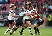 Lucy Attwood of Bristol Bears Women takes on the Harlequins defence. Tyrrell's Premier 15s match, between Harlequins Ladies and Bristol Bears Women on September 15, 2018 at the Twickenham Stoop in London, England. Photo by: Patrick Khachfe / Onside Images