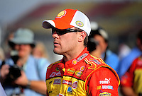 Oct. 9, 2009; Fontana, CA, USA; NASCAR Sprint Cup Series driver Kevin Harvick during qualifying for the Pepsi 500 at Auto Club Speedway. Mandatory Credit: Mark J. Rebilas-
