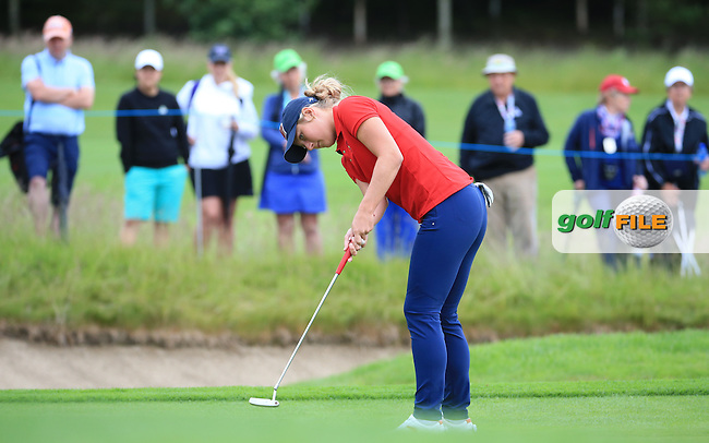 Bailey Tardy during the Sunday Singles at the 2016 Curtis Cup, played at Dun Laoghaire GC, Enniskerry, Co Wicklow, Ireland. 12/06/2016. Picture: David Lloyd | Golffile. <br /> <br /> All photo usage must display a mandatory copyright credit to &copy; Golffile | David Lloyd.