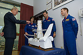 """Prince Philip, left, asks astronauts K. Megan McArthur, Commander Scott D. Altman and Gregory C. Johnson, pilot details about the STS-125 mission.  Photo Credit: """"NASA/Chris Gunn"""""""