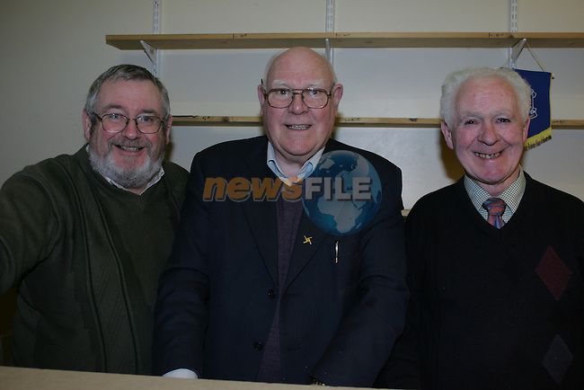 Ardee Bingo Peter McKeever, Austin Nevin and Kevin O'Brien.Photo: Fran Caffrey/ Newsfile.