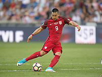 Commerce City, CO - Thursday June 08, 2017: Bobby Wood during a 2018 FIFA World Cup Qualifying Final Round match between the men's national teams of the United States (USA) and Trinidad and Tobago (TRI) at Dick's Sporting Goods Park.