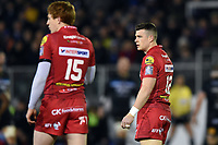 Scott Williams of the Scarlets. European Rugby Champions Cup match, between Bath Rugby and the Scarlets on January 12, 2018 at the Recreation Ground in Bath, England. Photo by: Patrick Khachfe / Onside Images